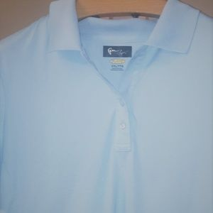 Greg Norman Light Blue Golf Shirt XXL